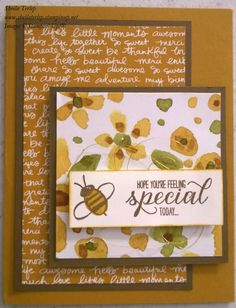 Stampin' Up!'s English Garden DSP, 2015-2017 In Color DSP, and Garden In Bloom set.