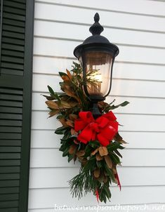 Madison Town & Country Holiday Home Tour- Madison Town & Country Holiday Home To… – Outdoor Christmas Lights House Decorations Christmas House Lights, Christmas Lamp, Christmas Swags, Decorating With Christmas Lights, Outdoor Christmas Decorations, Holiday Wreaths, Holiday Decor, Christmas 2019, Southern Christmas