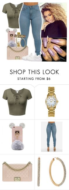 """..."" by melaninmonroee ❤ liked on Polyvore featuring Bulova, Chanel, Michael Kors and NIKE"