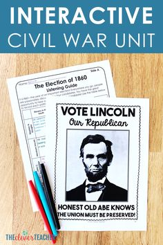 This 3 week Civil War history unit is packed full of fun interactive lesson and activities! These lessons and projects are especially great for kids in grade, grade, grade, and grade. Save yourself a ton of prep time and check it out today! History Bulletin Boards, History Classroom, Teaching Us History, History Activities, Civil War Activities, 6th Grade Social Studies, American History Lessons, History Quotes, History Facts