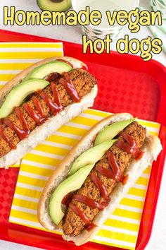 These are so, so easy – just blitz everything up in a f… Homemade vegan hot dogs! These are so, so easy – just blitz everything up in a food processor, shape into sausages, and bake! So yummy with avocado and ketchup. Hot Dog Sauce, Delicious Vegan Recipes, Vegetarian Recipes, Cooking Recipes, Vegan Meals, Vegan Food, Pescatarian Recipes, Sausage Recipes, Veggie Recipes
