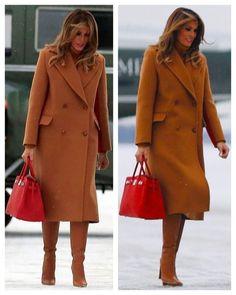 First Lady Melania Trump, Milania Trump Style, Trump Is My President, First Lady Melania Trump, Looks Chic, Winter Coats Women, Celebrity Style, Winter Fashion, Fashion Looks, Blazer
