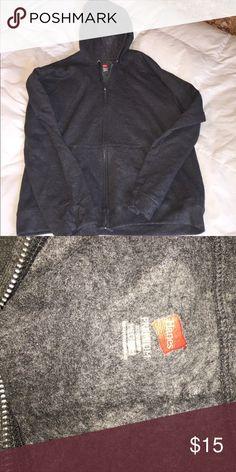 NWOT men's Hanes hoodie. Men's gray full zip hoodie. NWOT Hanes Shirts Sweatshirts & Hoodies