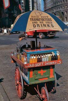 Vintage NYC Street Vendor Cart.