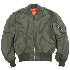 Alpha Industries' L-2B Flight Jacket mentioned on Glamour.com.