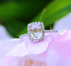 champagne yellow sapphire engagement ring