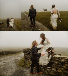 Hiking a foggy path after their elopement at the Cliffs of Moher, Elizabeth and Matt walk back to Doolin. Photos by Europe Elopement Photographer Wild Connections Photography Elope Wedding, Wedding Bells, Wedding Day, Elopement Wedding, Wedding Ring, Ireland Wedding, Irish Wedding, Intimate Weddings, Real Weddings