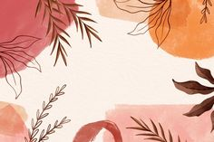 Watercolor background leaves with copy s... | Free Vector #Freepik #freevector #background #watercolor #floral #abstract Wallpaper Notebook, Cute Desktop Wallpaper, Mac Wallpaper, Macbook Wallpaper, Aesthetic Desktop Wallpaper, Iphone Background Wallpaper, Computer Wallpaper, Vintage Desktop Wallpapers, Pastel Background