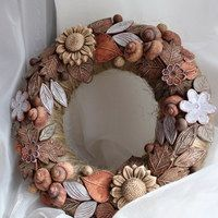 Keramika / Zboží | Fler.cz Christmas Home, Christmas Crafts, Pottery Sculpture, Hanging Art, Art School, Burlap Wreath, Terracotta, Diy And Crafts, Sculptures