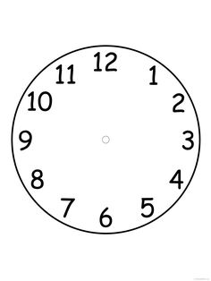 Awesome Free Printable Blank Clock Faces Worksheet that you must know, You're in good company if you're looking for Free Printable Blank Clock Faces Worksheet School Coloring Pages, Printable Coloring Pages, Coloring Pages For Kids, Blank Clock Faces, Clock Printable, Free Printable, Clock Worksheets, Face Template, Fish Coloring Page