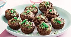 What do you get when you combine brownie, mint and cheesecake? This!