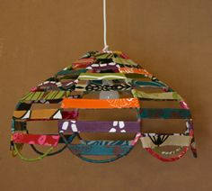 Fabric covered wire lamp shades might be good with other covering or fabric covered wire lamp shades might be good with other covering or mobile base lamps lights pinterest fabric covered fabrics and craft greentooth Choice Image