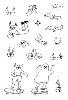 Kpop Tattoo, Kritzelei Tattoo, Doodle Tattoo, Piercing Tattoo, Piercings, Doodle Art, Mini Tattoos, Body Art Tattoos, Small Tattoos