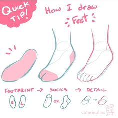 app_Simpler feet, as requested. It helps me a lot to start with the footprint, hope it helps you too . Body Reference Drawing, Anime Poses Reference, Body Drawing, Drawing Base, Drawing Tips, Poses References, Digital Art Tutorial, Art Poses, Drawing Practice
