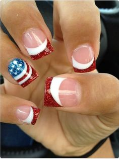 Forth of July Nails https://www.facebook.com/shorthaircutstyles/posts/1759748787648894