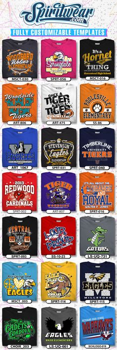 "Customize over spiritwear t-shirt design templates. Visit us today to have a customized school t-shirt made up for your school or event. Please visit our store, Family Lagniappe, for a wide selection of personalized ""mom & grandma"" t shirts & hoodies! T Shirt Designs, School Shirt Designs, T Shirt Design Template, Design Templates, T Shirt Make Up, Apartment Decorating For Couples, Apartment Ideas, Apartment Kitchen, School Spirit Wear"