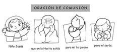 La Catequesis: Oración sencilla para que recen los niños antes de la Comunión