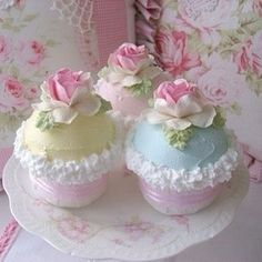 Shabby Chic  Cupcakes
