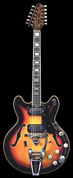1965 Vox Ultrasonic XII Guitar - V275 in Sunburst  with built-in fuzz tone, wah-wah and Bigsby