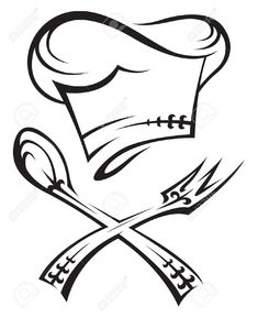 Find Chef Hat Spoon Fork stock images in HD and millions of other royalty-free stock photos, illustrations and vectors in the Shutterstock collection. Thousands of new, high-quality pictures added every day. Koch Tattoo, Chef Images, Chef Pictures, Chef Tattoo, Cartoon Chef, Clip Art, Tattoo Stencils, Cartoon Images, Illustrations