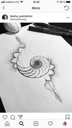 Cute Tattoos, Small Tattoos, New Tattoos, Body Art Tattoos, Lotus Tattoo, Tattoo You, Sternum Tattoo, Tatoo, Nautilus Tattoo