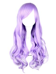 Dandy Lilac Long Curly Rayon Beautiful Lolita Wig #milanoo