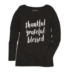 Thankful Grateful Blessed Long Sleeve Tee