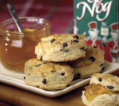 and Currant Scones Seasonal eggnog replaces the milk or buttermilk ...