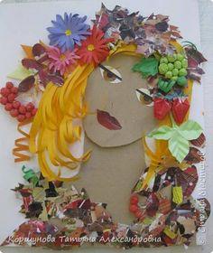 Картина панно рисунок Бумагопластика Девушка - осень Бумага