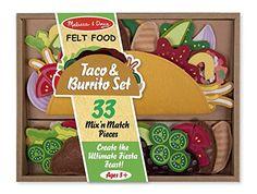 Amazon.com: Melissa & Doug Felt Food - Taco And Burrito Set: Melissa & Doug: Toys & Games