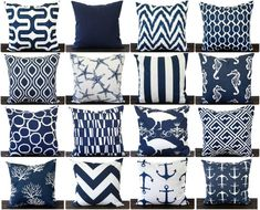 Navy Blue pillow cover One cushion cover in by ThePillowPeople