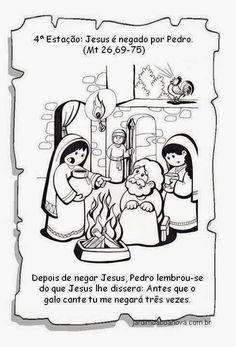 Jardim da Boa Nova: Via Sacra Bible Activities, Religion, Sisters, Comics, Crafts, History Of Easter, Sunday School Kids, Catechism, Sunday School