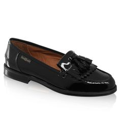 Russell & Bromley - Chester Loafers in Patent Black Leather.