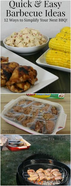 Quick and Easy BBQ Ideas - 12 ways to simplify your next barbecue dinner. Includes an easy make-ahead potato salad recipe to serve as a side dish to your meal, prep-ahead barbeque tips, and tips for grilling chicken or steak.