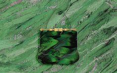 ARTBURO Wintour Bag. Green plumage. on Behance