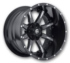 Fuel Wheels D251-Nutz-2PC 20x10 Black Milled Low Offset (Fuel-Rims-D251-Nutz-2PC-20-10BMILL.s)