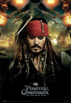 Póster efecto 3D Los Piratas de Caribe en Mareas Misteriosas. Jack Sparrow Póster con efecto 3D perteneciente a la exitosa saga de Los Piratas del Caribe en su cuarta entrega en Mareas Misteriosas.