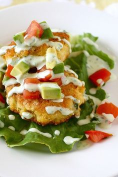 25 Appetizers Corn Cakes with Tomato Avocado Relish from Annie's Eats