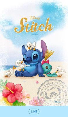 Image about stitch in 🦄 Line : Disney, Sanrio and more 🦄 by Un Petit Dragon Rose (WHI) Disney Stitch, Scrump Lilo And Stitch, Disney Phone Wallpaper, Wallpaper Iphone Cute, Cute Disney Drawings, Cute Drawings, Stitch Et Angel, Lilo And Stitch Quotes, Stitch Tattoo