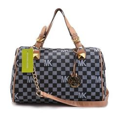 MICHAEL Michael Kors Tristan Large Shoulder Tote Dark Blue Leather Model: MK Bags - 035 CAD$101.40#http://www.bagsloves.com/