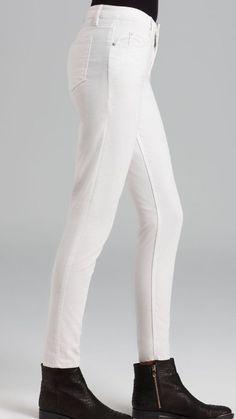 Theory Luxurious White Skinny Corduroys Women's Stretch Size 25 X 29 NWT $195 #Theory #Corduroys