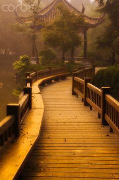 Boardwalk Along West Lake, Hangzhou, Zhejiang Province, China