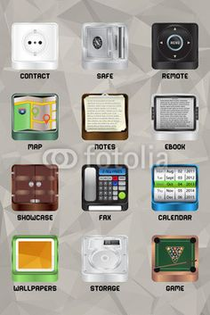 Mobile device icons v2.0 part 5