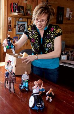 This artist makes dolls with various abilities.  Great idea for inclusion and diversity!