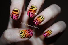 rebecca likes nails: new gradient zebra + TUTORIAL!