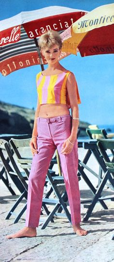 Ina Balke wearing Giorgio di Sant' Angelo photo Regina Relang 1962. 60s summer style.