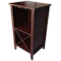 Wine Rack End Table Wine Storage Cabinet * See this great product. (This is an affiliate link) Glass Rack, Wine Glass Holder, Wine Bottle Opener, Home Bar Furniture, European Furniture, Cheap Wine Racks, Wine Storage Cabinets, Black Cherry Wood, Built In Wine Rack