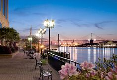 The Riverwalk in Savannah, GA. I went here when I was a little girl. It really is this beautiful.