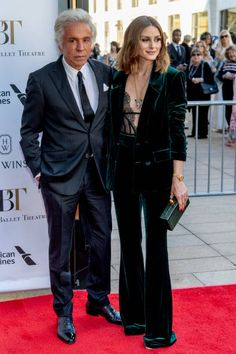 Giancarlo Giammetti and Olivia Palermo attends the 2018 American Ballet Theatre Spring Gala at The Metropolitan Opera House on May 21 2018 in New...