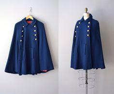 1960s cape / wool cape coat / Ripon cape coat by DearGolden, $138.00